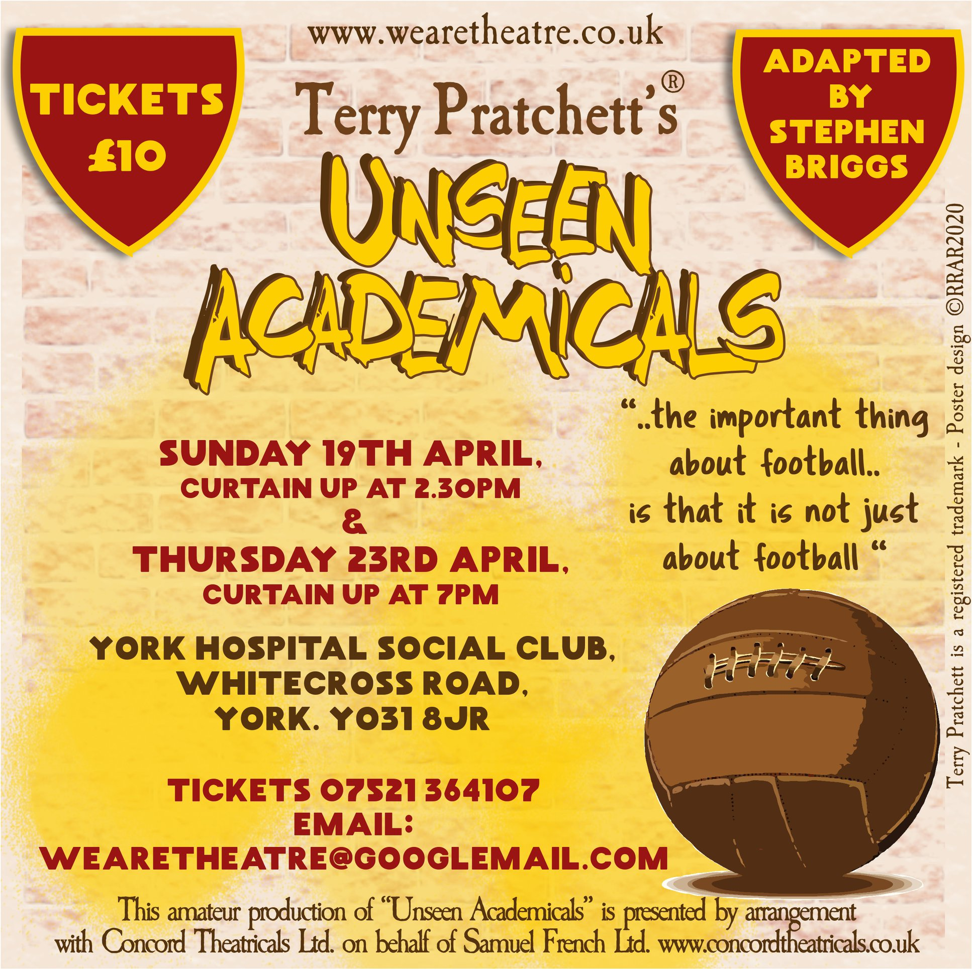 'Unseen Academicals' based on Terry Pratchett's novel