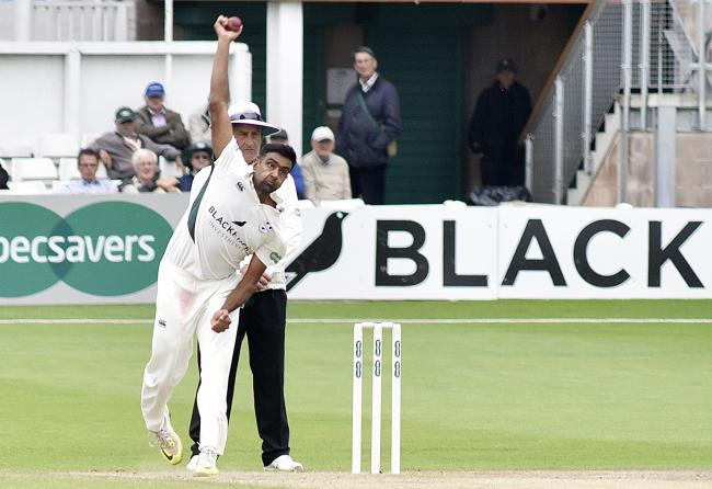 Yorkshire new short-term spin bowler Ravi Ashwin in action for Worcestershire. Picture: David Griffiths