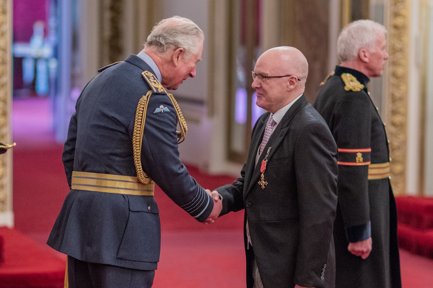 Ebor Academy chief, Richard Ludlow, collects OBE from Prince Charles