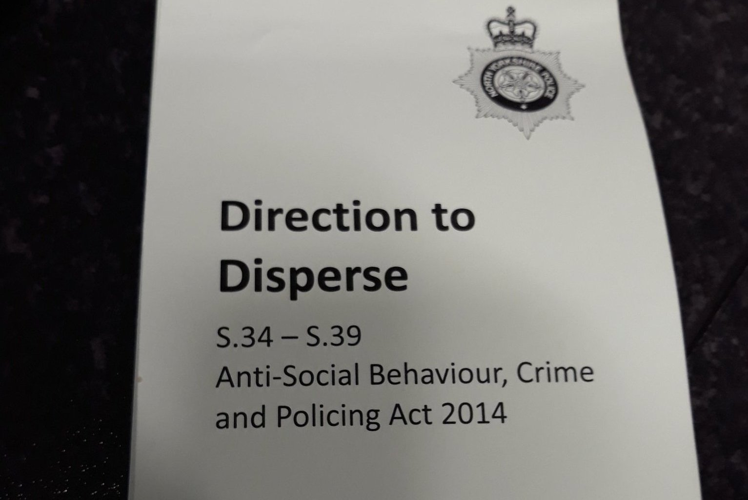 Dispersal orders issued to youths in Foxwood after anti-social behaviour