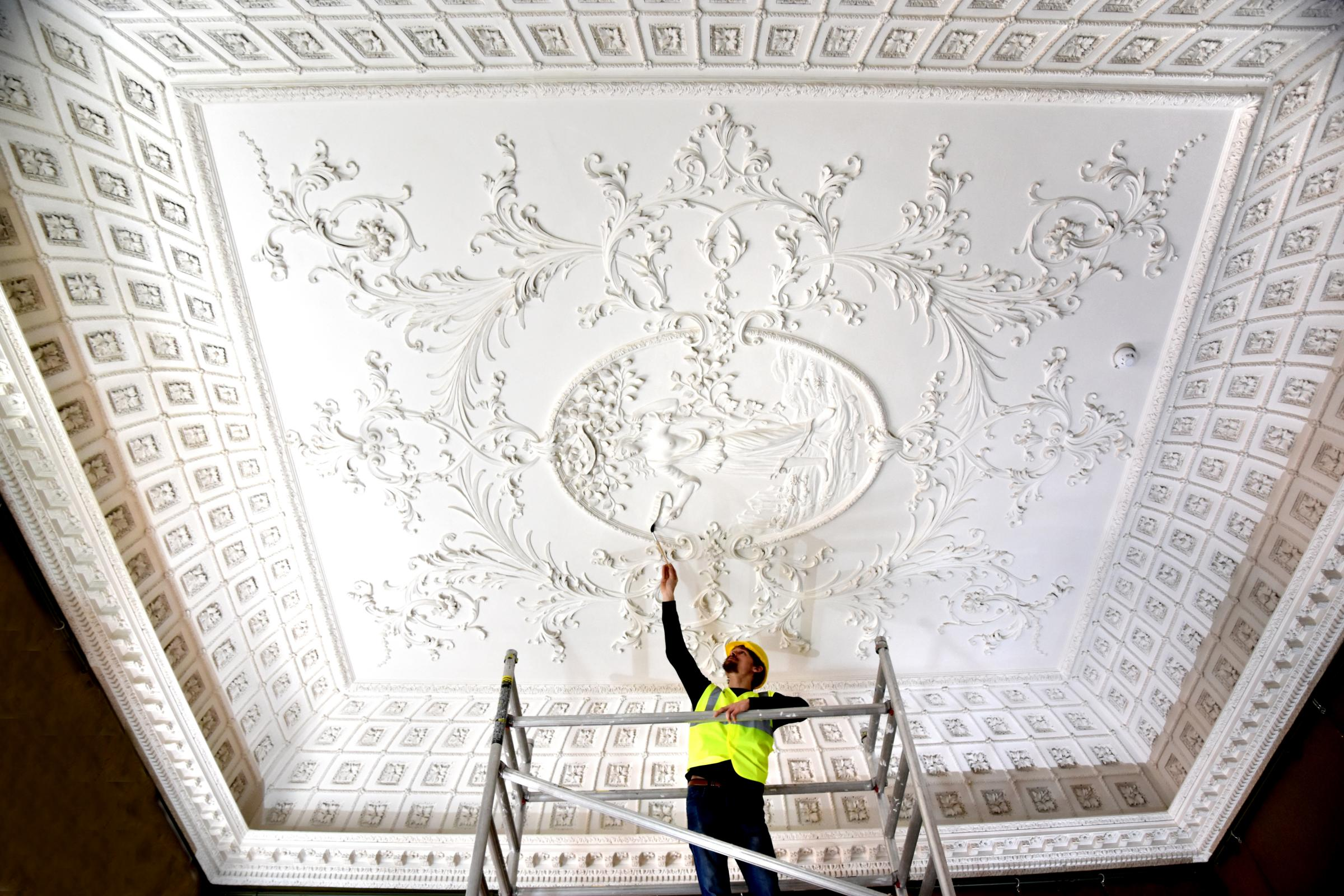 First look at newly restored ceilings at York's Fairfax House