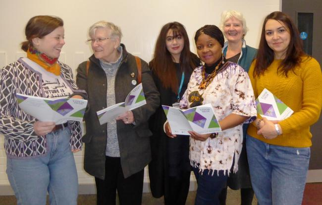 Members of the York International Women's week prepare for this year's event