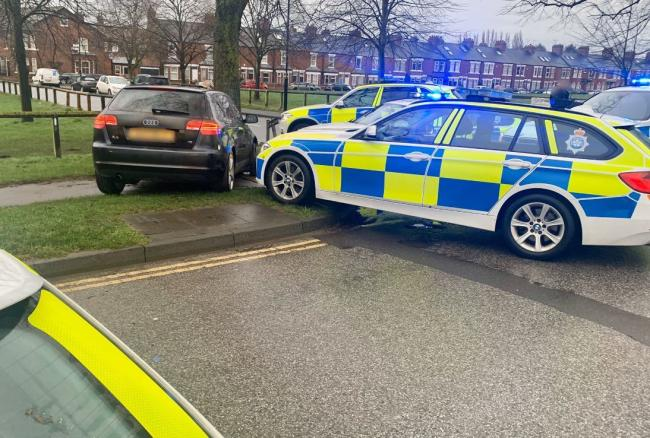 The car stopped by police. Picture: Sgt Paul Cording