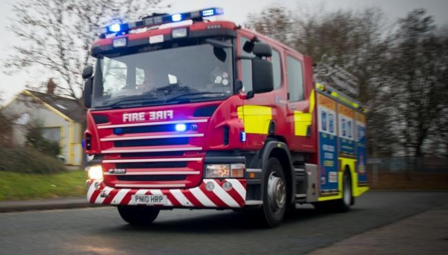Firefighters tackling blaze at waste recycling centre