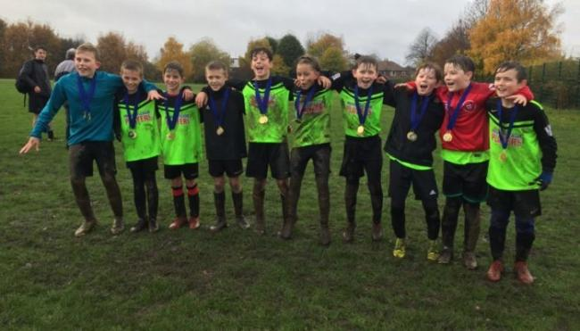 York & District Schoolboys Under-11s celebrate being crowned seven-a-side Yorkshire champions
