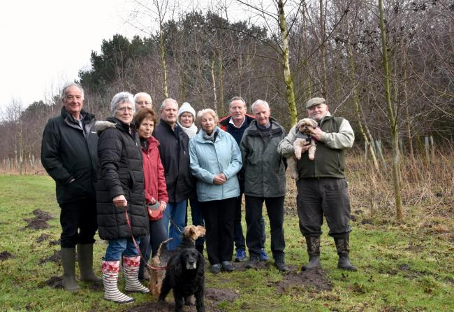 Flashback to 2018, when Earswick residents were unhap[py at proposals to clear 700 trees in Diamond Jubilee Wood. Picture: Frank Dwyer