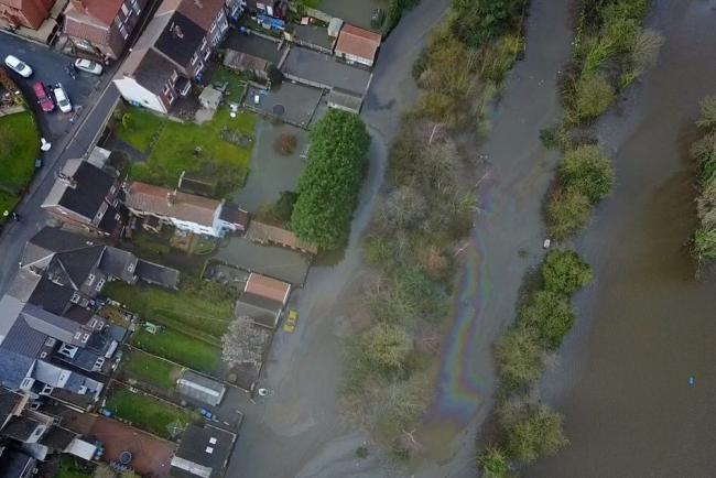 An Environment Agency picture of flooding in Snaith and East Cowick
