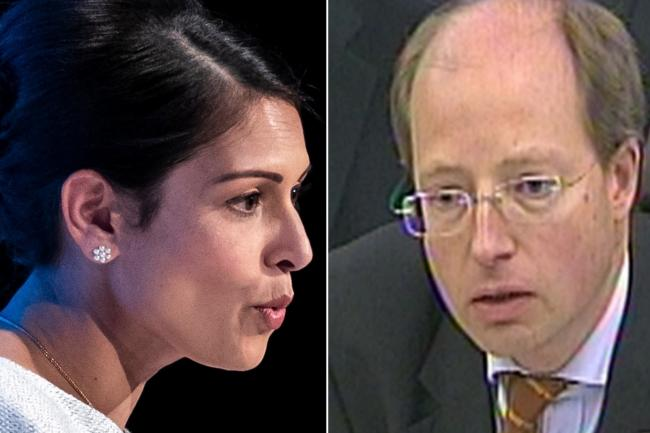 Priti Patel and Sir Philip Rutnam