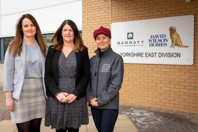 Laura Laverick, Luci Walker and Justyna Snigurska, of Barratt Homes Yorkshire East Division