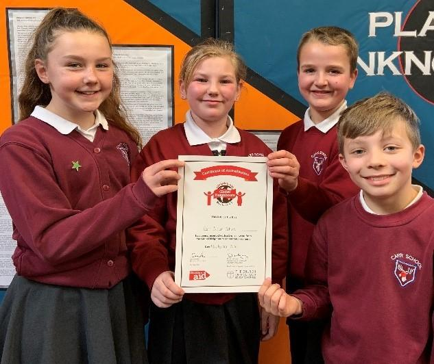 Pupils at Carr Junior School have been presented with a Bronze Award from Christian Aid's Global Neighbours Scheme for their global citizenship work