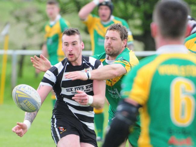 Returning to Heworth after a four-year absence, Danny Allan got the first try in the Black and Whites' home win over Askam. Picture: Anthony Chappel-Ross