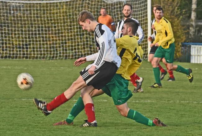 Harry Lynn, who netted for Dunnington in their 4-1 win over Easingwold Town. Picture: Nigel Holland