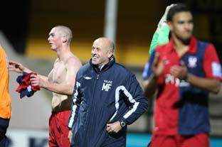 City boss Martin Foyle savours his side's 2-1 victory over Cambridge. Picture: Gordon Clayton