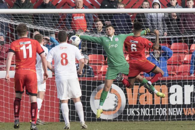 Action from York City's 3-1 win at Alfreton Town, which put kept top of National League North. Picture: Ian Parker