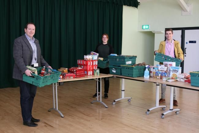 Councillors help out at one of the coronavirus support hubs