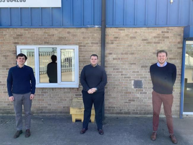 From left, Jevan Medlock, Mason Tendal and Robert Lockwood have joined Pocklington firm Detectamet as it expands into new markets.
