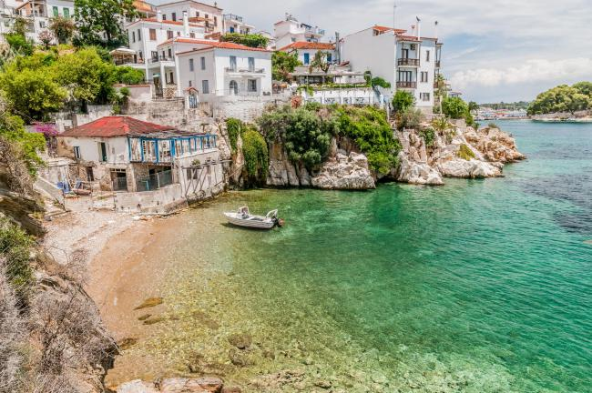 The harbour on the Greek island of Skiathos. But our correspondent didn't actually have to go there to have a lovely 'day off'. Picture: PA Photo/iStock