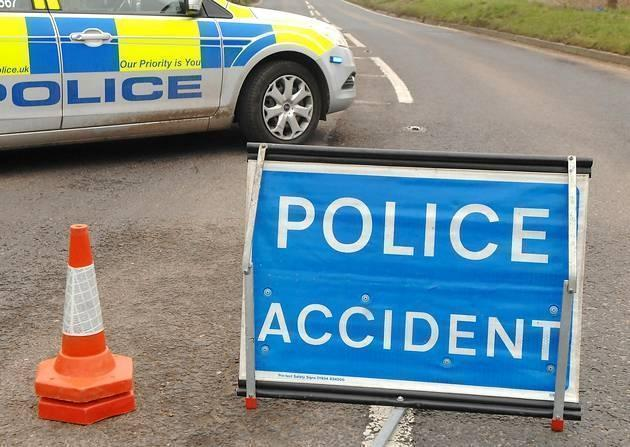 A170 is closed after a road traffic accident