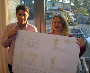 Gaelle McGovern and Victoria Fogg,  house mistresses at Ampleforth College, with the plans for the new development scheme.