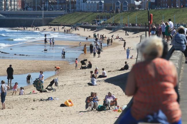 People are being urged to stay away from beaches