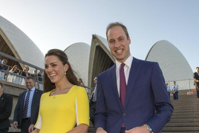 The Duke and Duchess, pictured during a previous visit to Australia