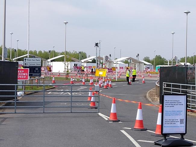 The coronavirus testing facility at Poppleton Park&Ride in York