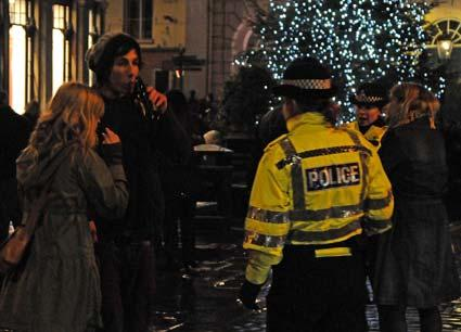 Revellers celebrate on New Year's Eve in York.