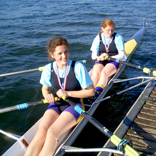 York City Rowing Club youngsters Rebecca Turley, pictured above right, and Iona Harrap have won a string of events on the water