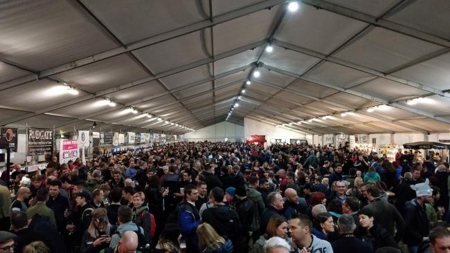 Scenes like this at York CAMRA Beer and Cider Festival, taken in 2019, won't be possible this year due to the social distancing rules. Picture: Paul Shields