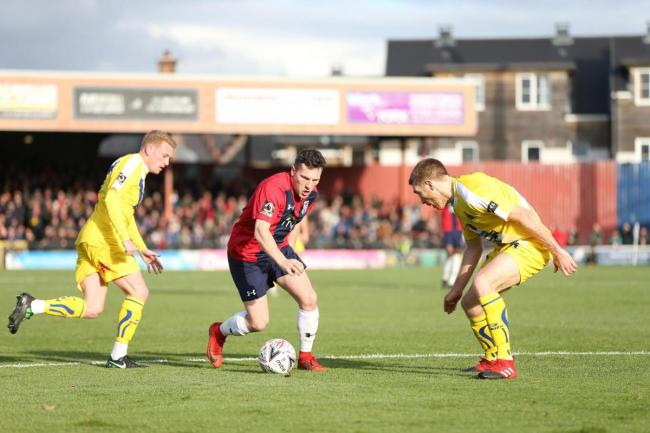 York City striker Dan Maguire. Picture: Gordon Clayton