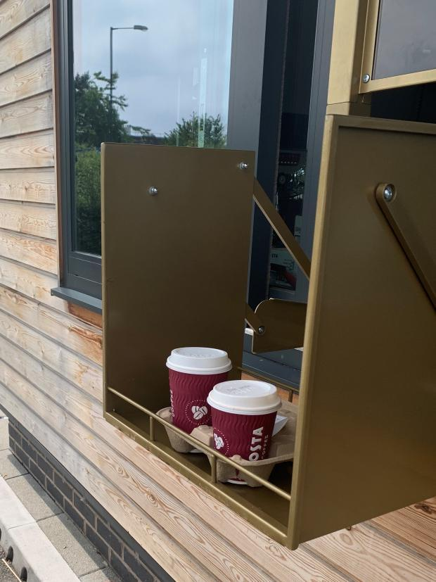 A new hatch at a Costa Coffee drive-thru. Picture: Costa Coffee