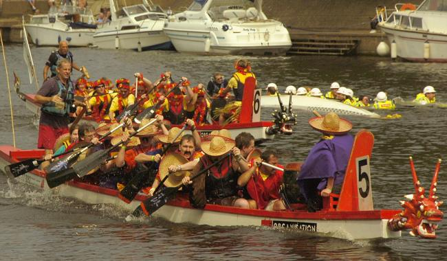 A York Dragon Boat Race in 2018