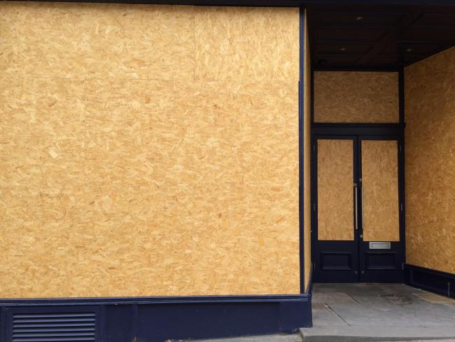 Loch Fyne in Fossgate: still boarded up even though restaurants can now reopen