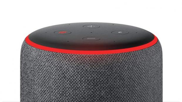 York Press: A red light ring means the Echo's microphones are turned off, and Alexa can't hear your conversations. Credit: Amazon
