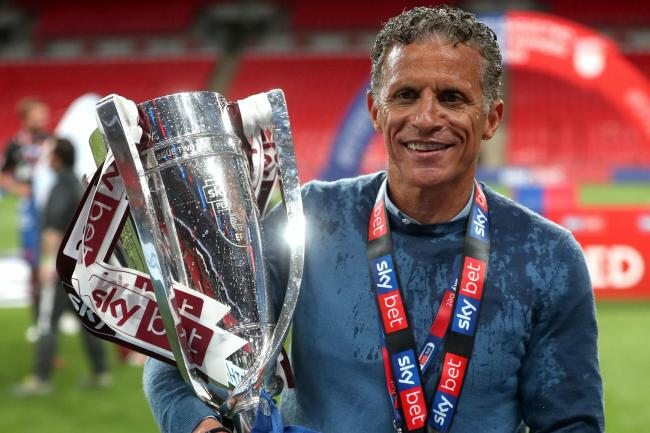Keith Curle is celebrating his first promotion as a manager