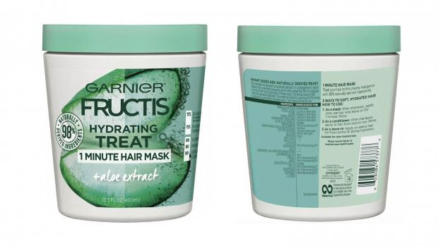 York Press: Hydrate your hair with the Garnier Fructis 1 Minute Nourishing Hair Mask. Credit: Garnier