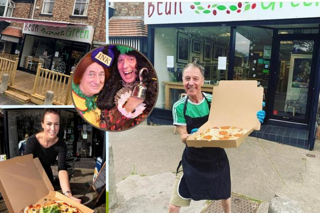 Bean on the Green in York, where panto star Martin Barrass has been delivering pizzas