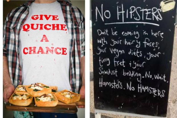 York Press: Steve has a great sense of humour; his 'No Hipsters' board went viral