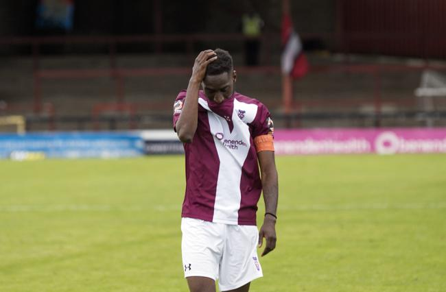 York City midfielder Adriano Moke after the game. Picture: Ian Parker