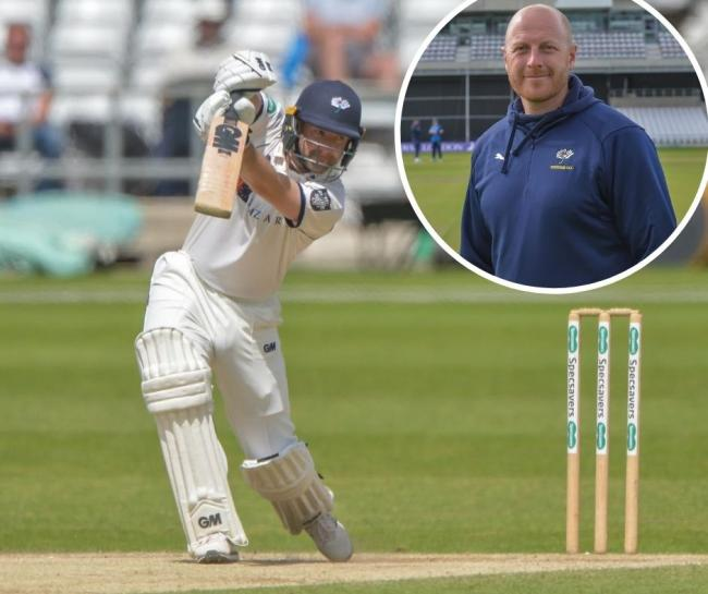 Adam Lyth, who hit 108 not out yesterday, and coach Andrew Gale
