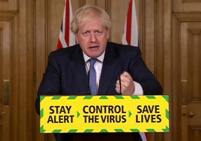 Prime Minister Boris Johnson speaking during a media briefing in Downing Street, London, on coronavirus (COVID-19)