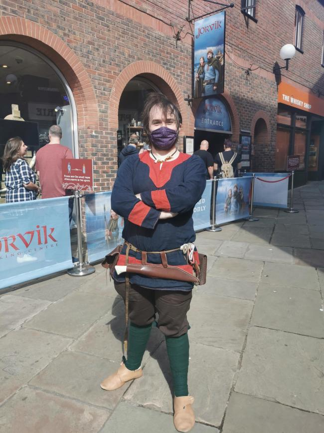 A staff member  at Jorvik viking centre