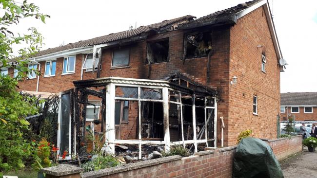 The house has been badly damaged by the blaze