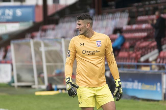 York City goalkeeper Peter Jameson won the Man of the Match after pulling off a number of great saves. Picture: Ian Parker