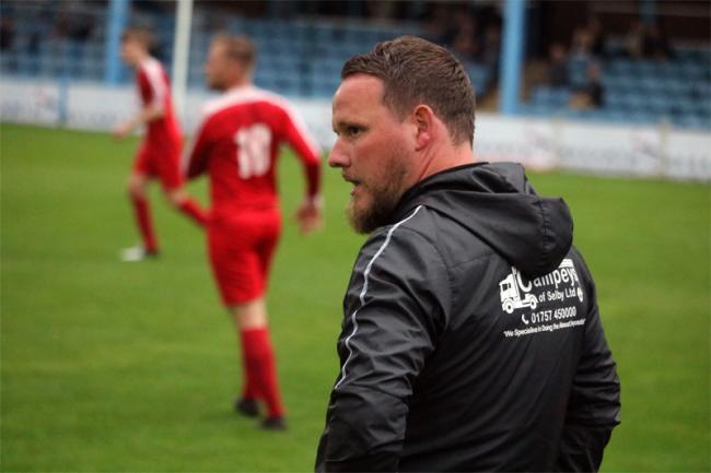 Selby Town manager Christian Fox. Picture: Selby Town FC