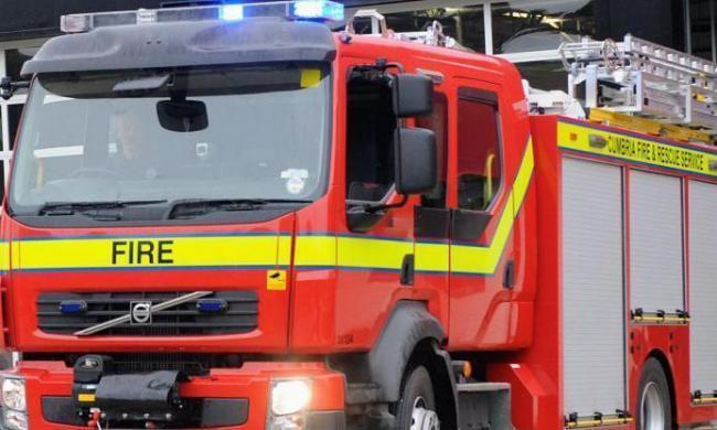 Firefighters battle vehicle fire in North Yorkshire village