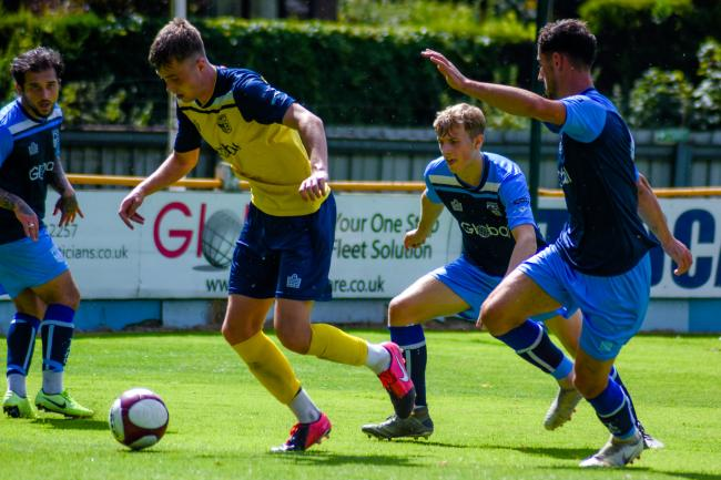 Tadcaster Albion's new signing Bailey Thompson in action in a recent behind closed doors game. Picture: Matthew Appleby
