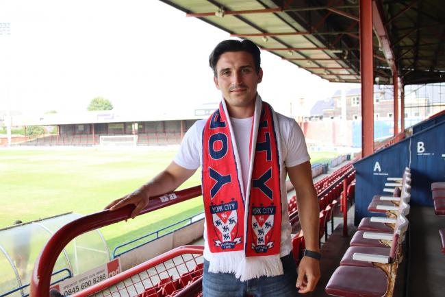 York City's new striker Jack Redshaw. Picture: York City FC