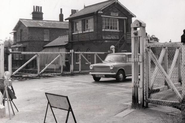 Flashback to a photo of the rail crossing at Haxby from March 1976  Photo: YEP