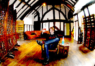 Ian Loftus in the medieval hall which once housed the former Beams Tearooms in Stonegate